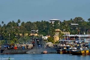 Sri Lanka - leaving harbour