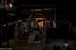Pyrogenesis machinery at night