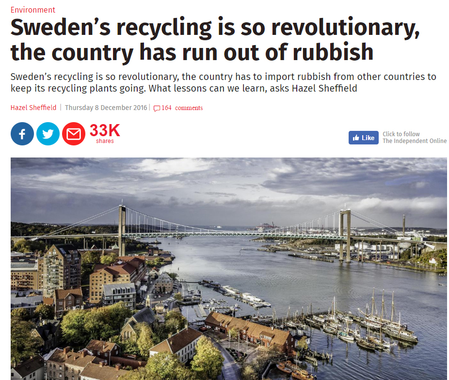 Is Sweden's recycling really so revolutionary?