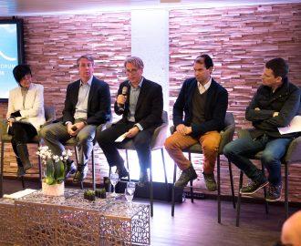 Panel discussion at the World Economic Forum, Davos, Switzerland